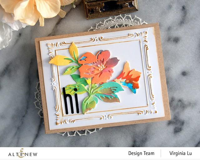 Altenew-Simple Frame 3D Embossing Folder-Climber Flowers Die-Tall Alphabet Die -002