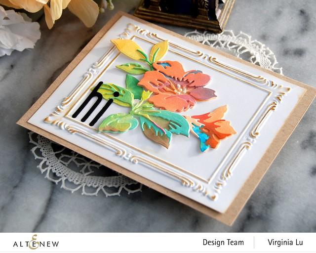 Altenew-Simple Frame 3D Embossing Folder-Climber Flowers Die-Tall Alphabet Die -001