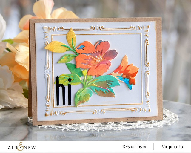 Altenew-Simple Frame 3D Embossing Folder-Climber Flowers Die-Tall Alphabet Die