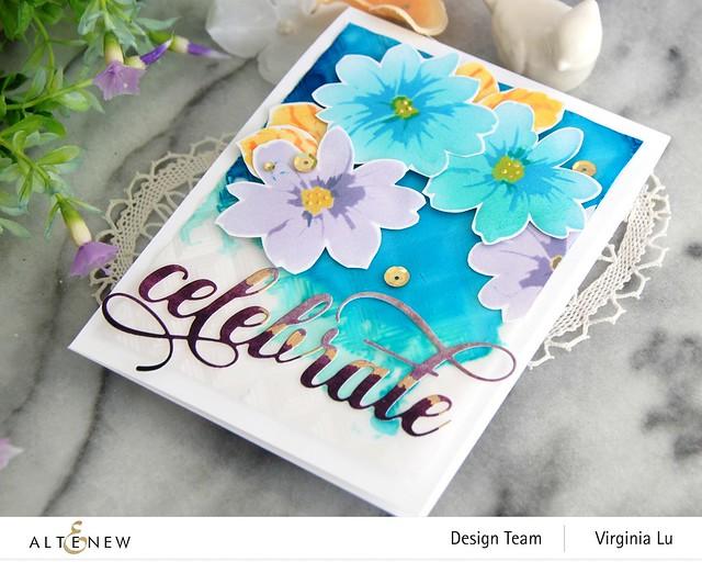 Altenew-Flower Bunch Simple Layering Stencil-Mod Square 3D Embossing Folder-Fancy Celebrate Die-Artist Marker Refill (2)