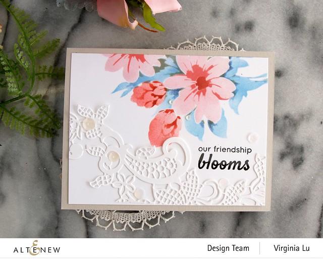 Altenew-Flower Bunch Simple Layering Stencil-Fancy Floral Lace Die-003