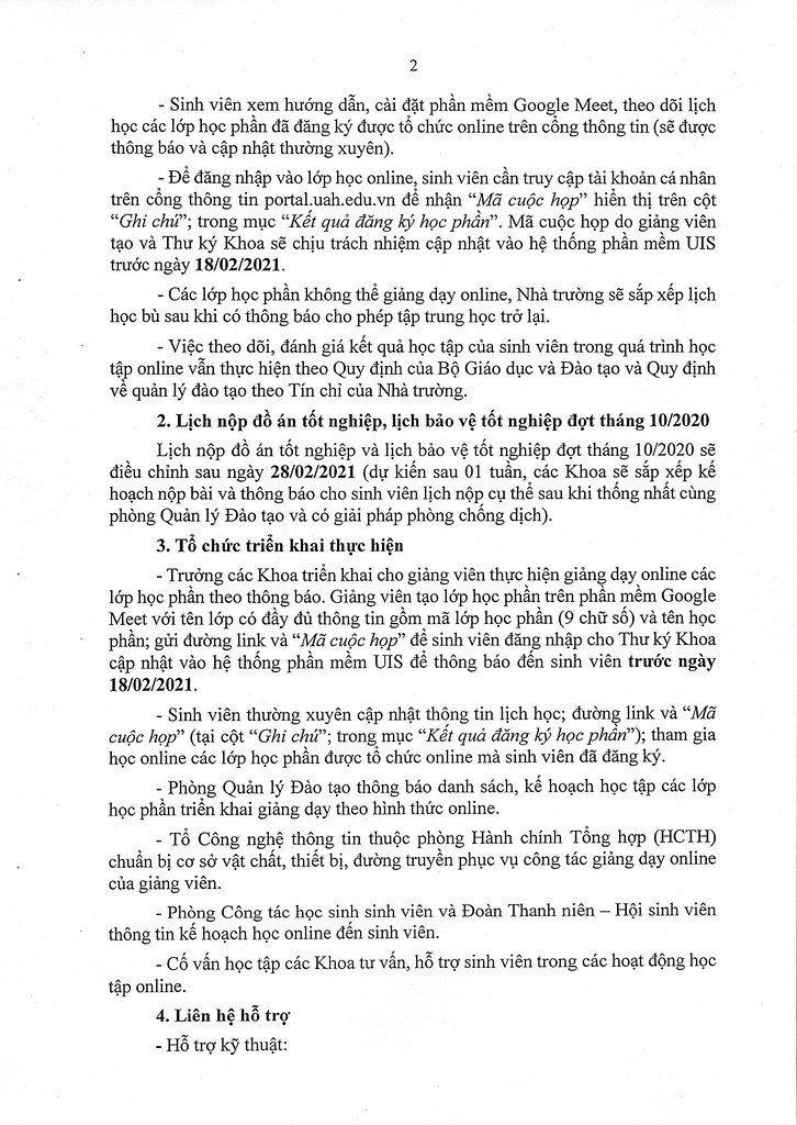 93- Thong bao ve viec thay doi hinh thuc giang day va hhoc tap cho sinh vien cac lop he Chinh quy va he Vua lam vua hoc tu ngay 22.2.2021_Page_2