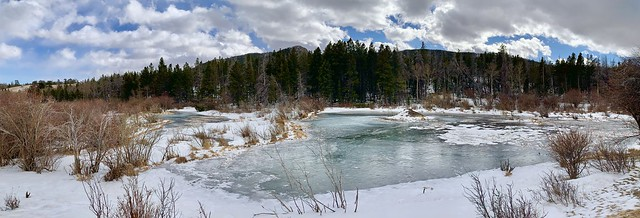 The frozen beaver ponds of Happy Jack Recreation Area