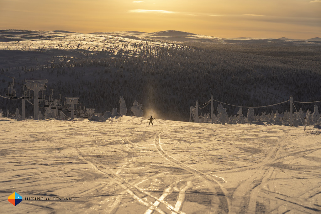 Golden Morning Light on the Ski slopes