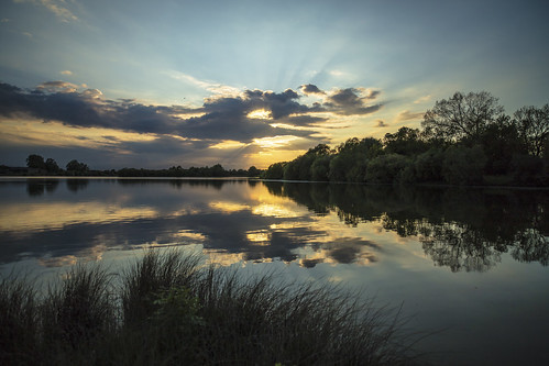 canon6d landscape nature outdoors outside sky clouds lakewater reflection sunset uk cambridgeshire