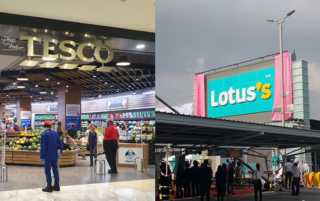 tesco rebranded to lotus's