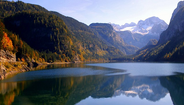 Gold and silver of Alpine Autumn