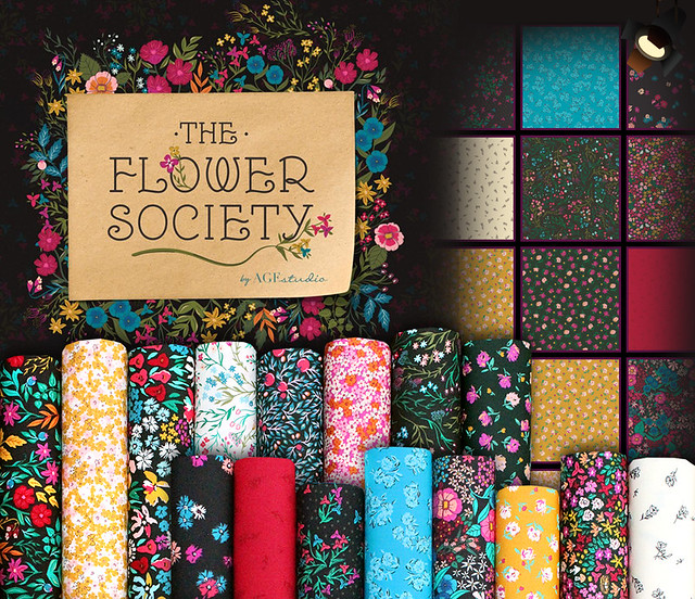 Art Gallery Fabrics The Flower Society Collection by AGF Studio