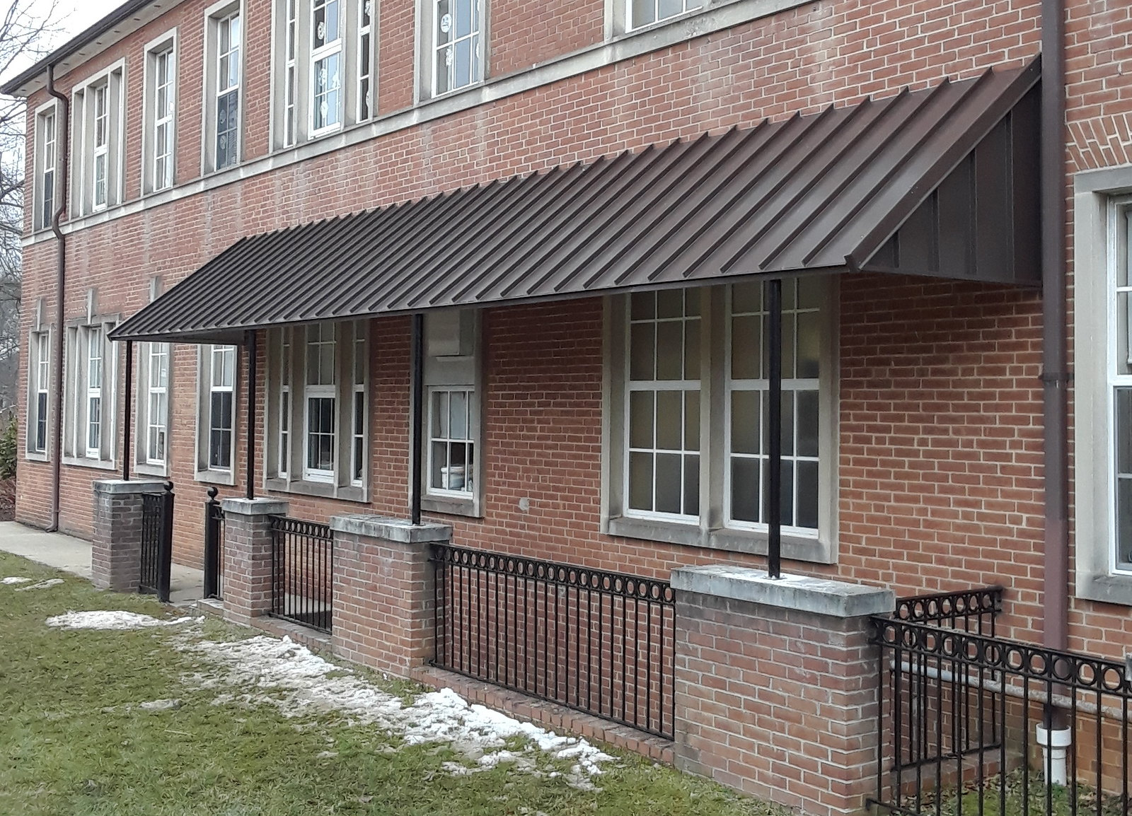 standing-seam-stairwell-awning-westminster