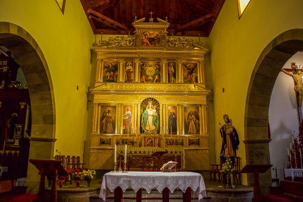 Interior iglesia de los Remedios en Buenavista