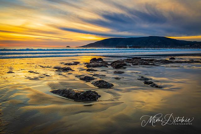 Winter Sunset Over Avila Beach