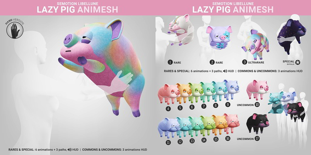 SEmotion Libellune Lazy Pig Animesh