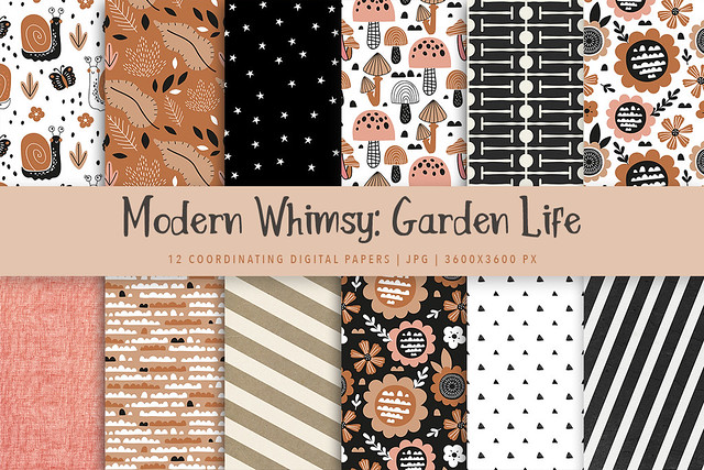 Modern Whimsy Garden Life Papers Promo1