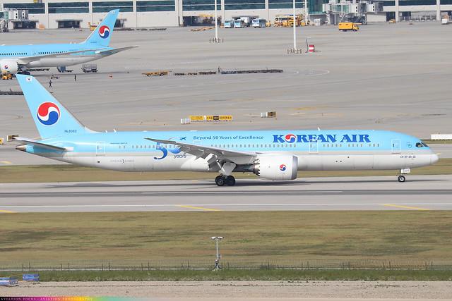 HL8082  -  Boeing 787-9 Dreamliner  -  Korean Air  -  ICN/RKSI 6/10/19