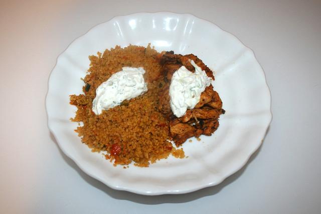 Chicken gyros with vegetable couscous & tzaziki - Leftovers I / Hähnchengyros mit Gemüsecouscous & Tzatziki - Resteverbrauch I