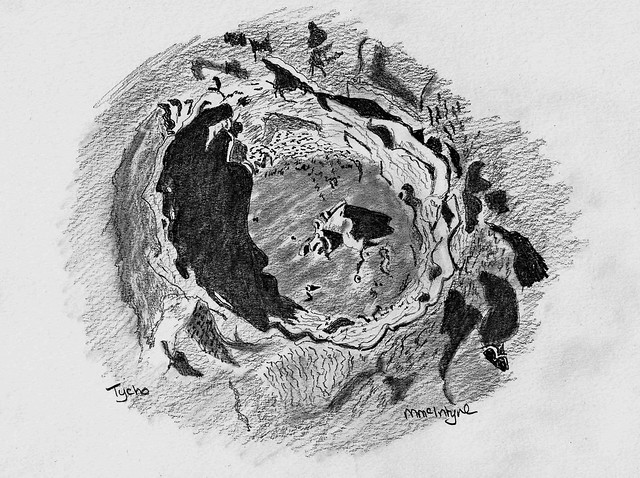 Pencil Sketch of Lunar Crater Tycho