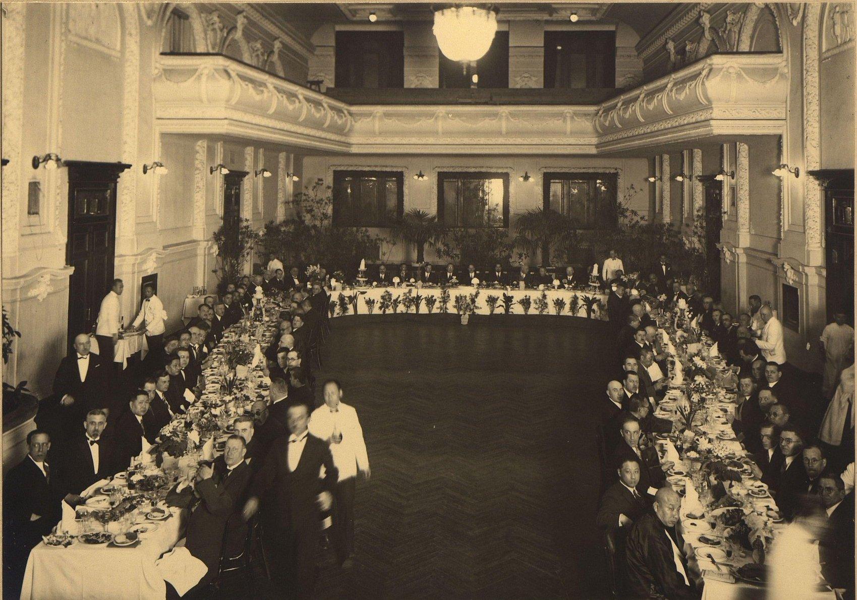1932. Банкет в железнодорожном собрании (КВЖД). Харбин