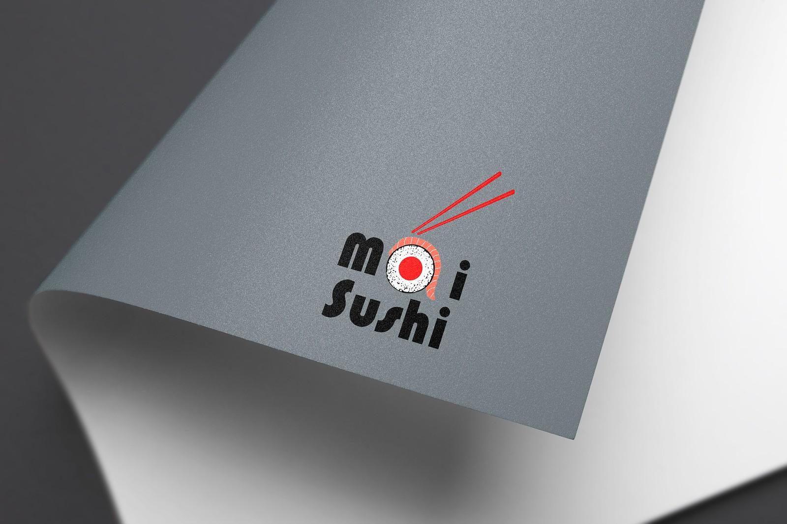 Mai Sushi Old Logo Design Tuyen Chau
