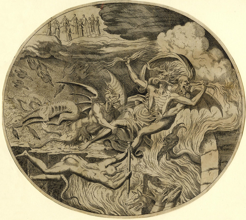 """Leon Davent, after Luca Penni - Envy, from series """"Justice and the Seven Deadly Sins,"""" 1547"""