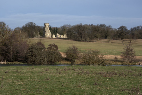 wimpole folly hall landscape cambridgeshire national trust lock down walks castle lake layers horace house tower ruin tree land