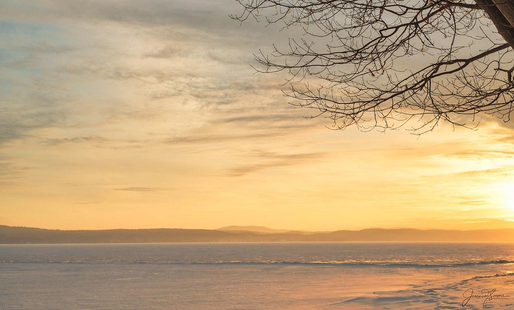 Beautiful sunrise Lake Champlain Vermont