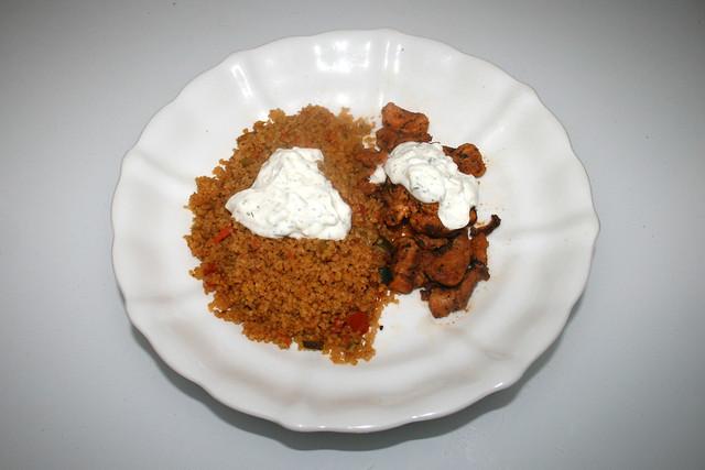Chicken gyros with vegetable couscous & tzaziki - Leftovers III / Hähnchengyros mit Gemüsecouscous & Tzatziki - Resteverbrauch III