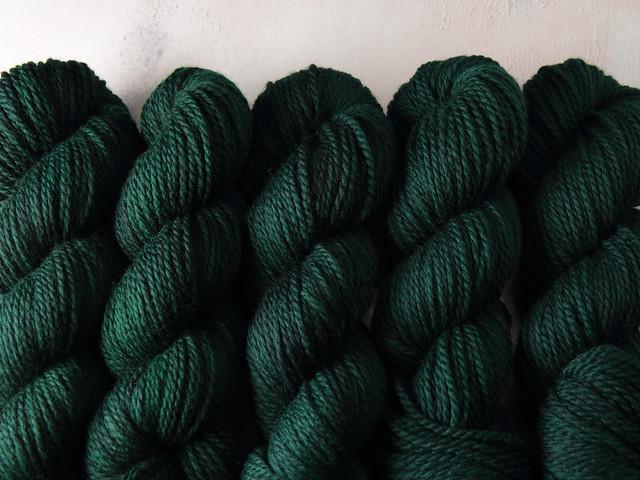 Awesome Aran – pure British wool superwash hand-dyed yarn 100g – 'Monstera'