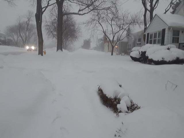 Between snowfalls. Before I shoveled this Monday, 2/15/2021.