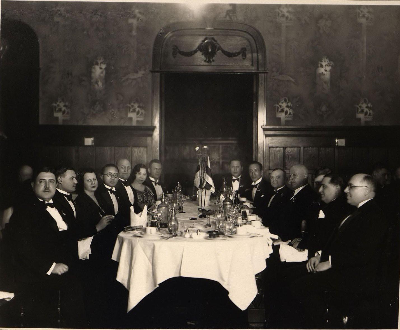 1936. Прием в честь дня независимости Эстонии. Харбин