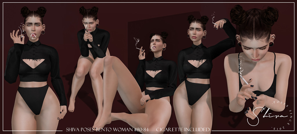 shiva poses BENTO woman #80-84