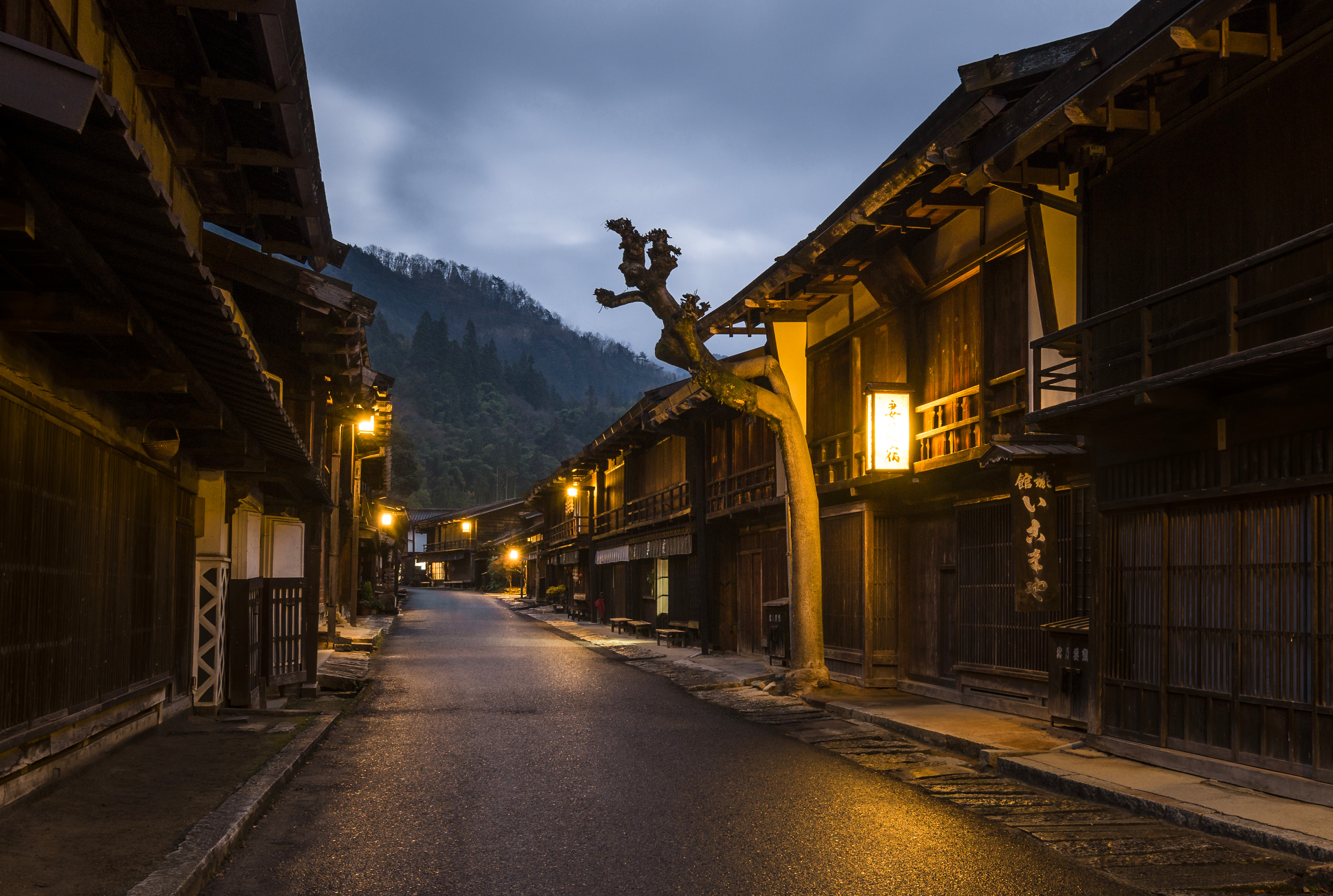 Nightfall in rural Japan: Tsumago-juku, forty-second of the sixty-nine post towns on the ancient Nakasendō trail - Explored