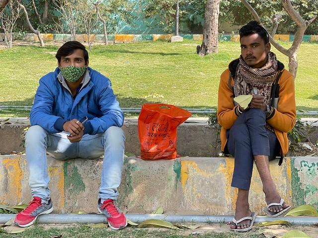 City Life - Two Painters, Kamala Nehru Park