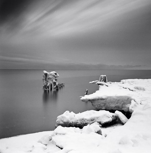 The ice shelf's maw.