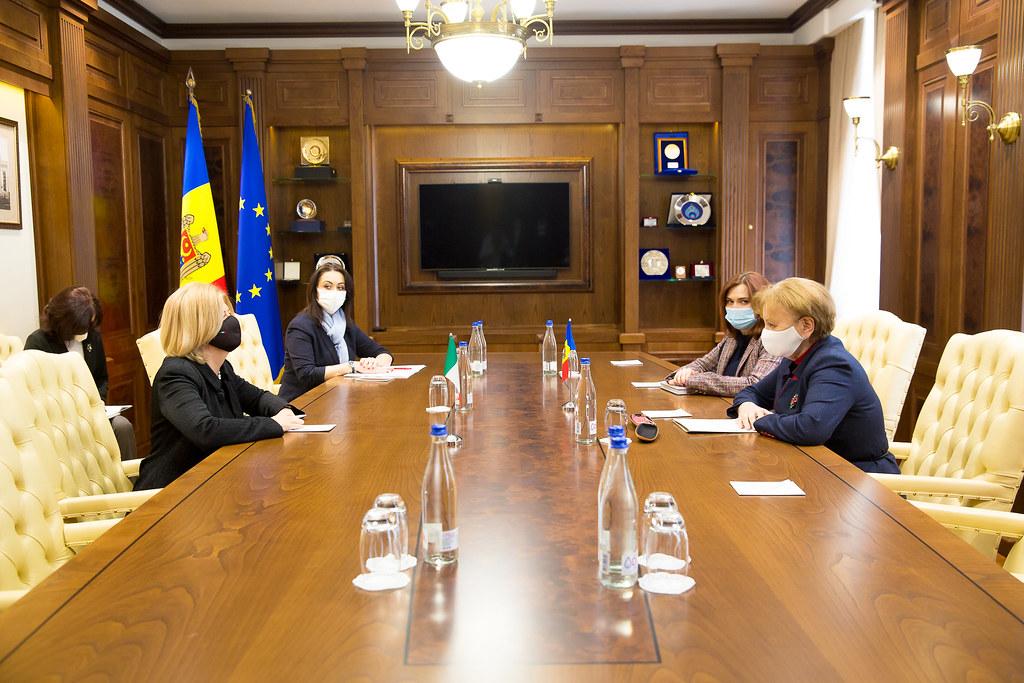 Întrevederea de rămas bun a Președintelui Parlamentului, Zinaida Greceanîi, cu Ambasadoarea Republicii Italia, Valeria Biagiotti