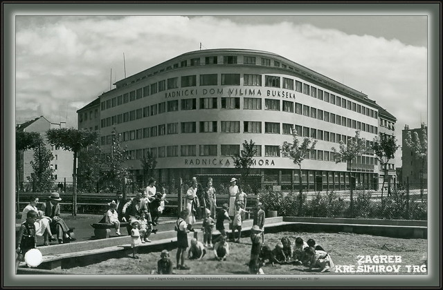 8194 R Zagreb Krešimirov Trg Radnički Dom Vilima Bukšeka Foto-Materijal od t. t. Snimak: Đuro Greisbach i Knaus Jurišićeva 1, sent 20.I.1941.