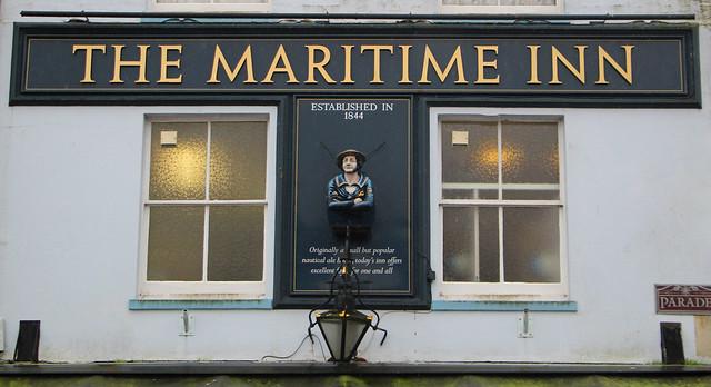 The Maritime Inn Pub Sign, Plymouth