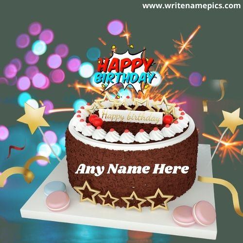 Beautiful Happy Birthday Chocolate Cake With Name
