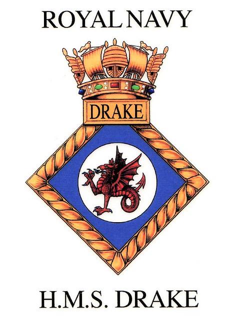 HMS Drake crest