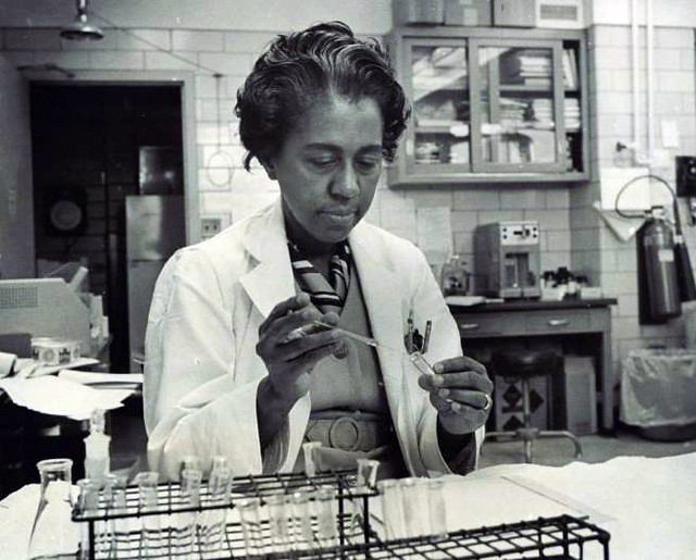 Dr. Marie M. Daly working