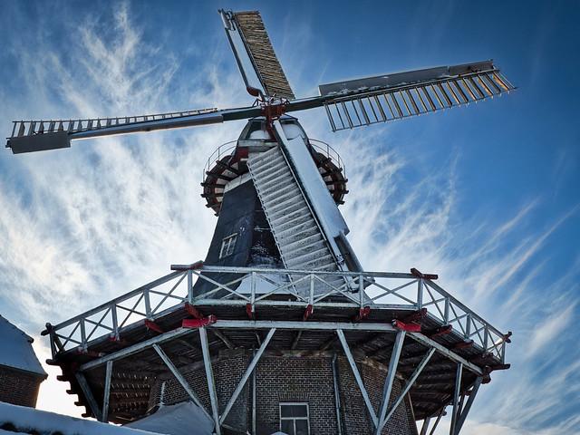 Mühle im Schnee-Landkreis Wangerland