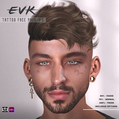 [ E V K ] Tattoo Face Pack #8