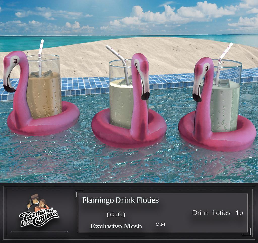 Flamingo Drink Floties