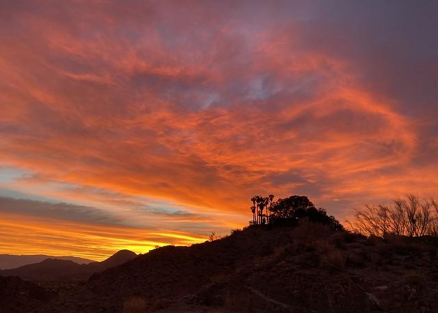 Fiery sunrise beauty