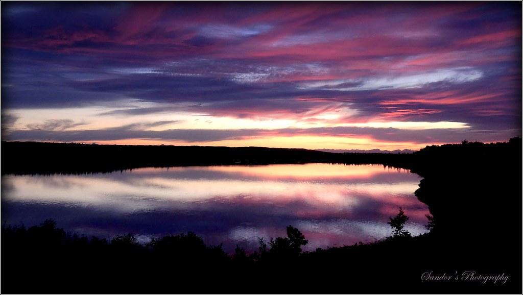Sunset at Glenmore Lake,Calgary,AB.