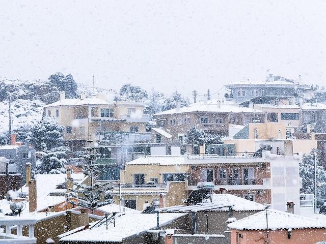 Alimos snowy - Once in twenty years