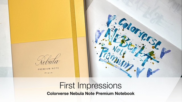 First Impressions Colorverse Nebula Note Premium Notebook