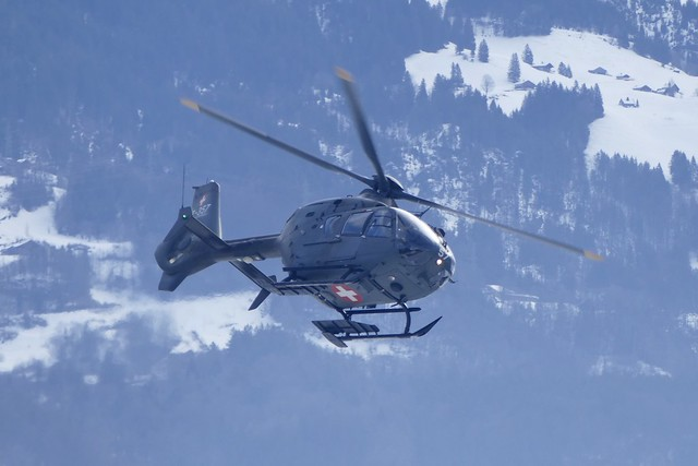 Eurocopter EC635 T-357 Swiss Airforce Meiringen Airbase Switzerland 2021