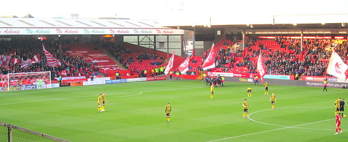 Teams line up, Pittodrie, 18/1/20