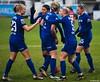 Chelsea celebrate Beth England's goal