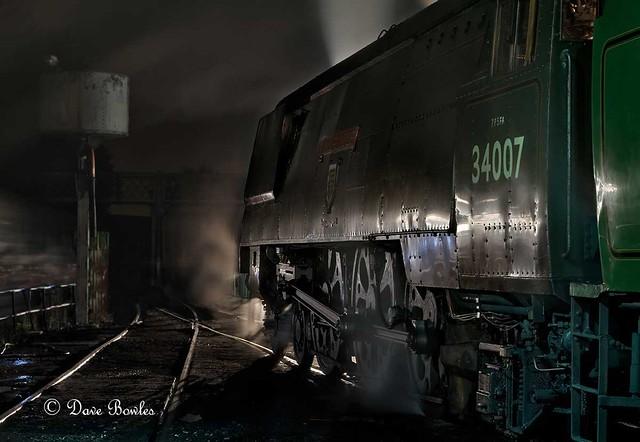 MHR night shoot at Ropley 7/9/2012